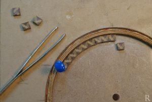classical guitar tile rosette making
