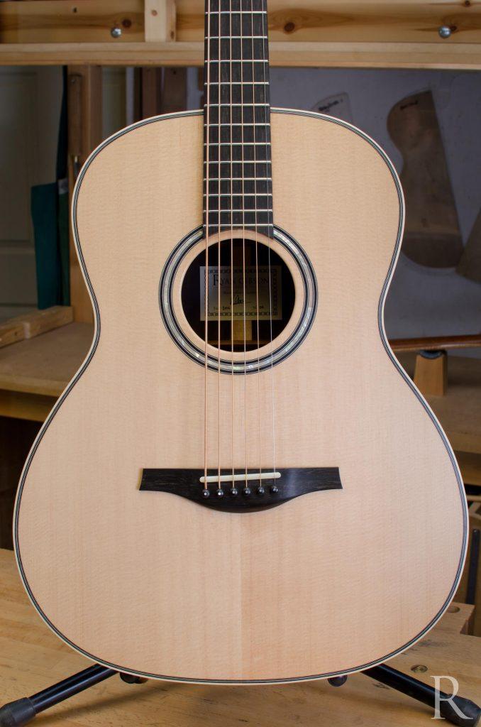 handmade baritone steel string guitar
