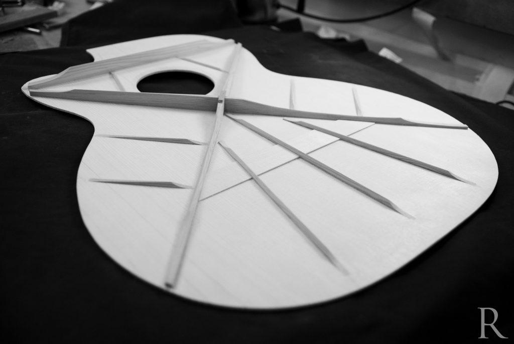 jazz nylon crossover bracing guitar