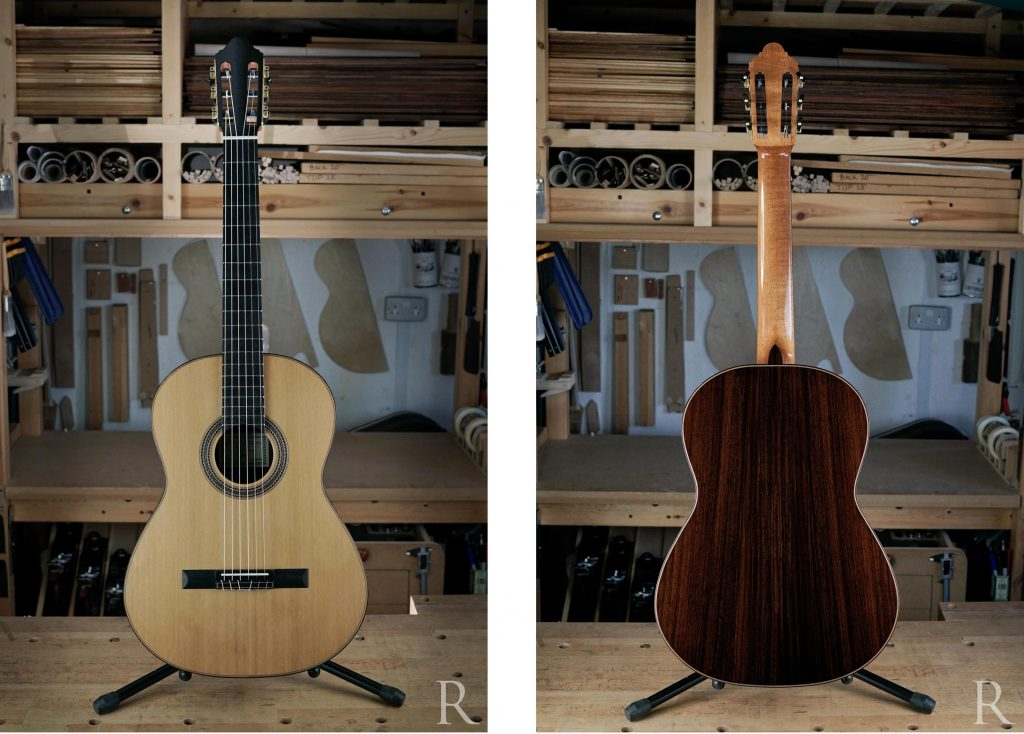 cedar and indian rosewood classical guitar