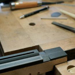 shaping classical guitar bridge