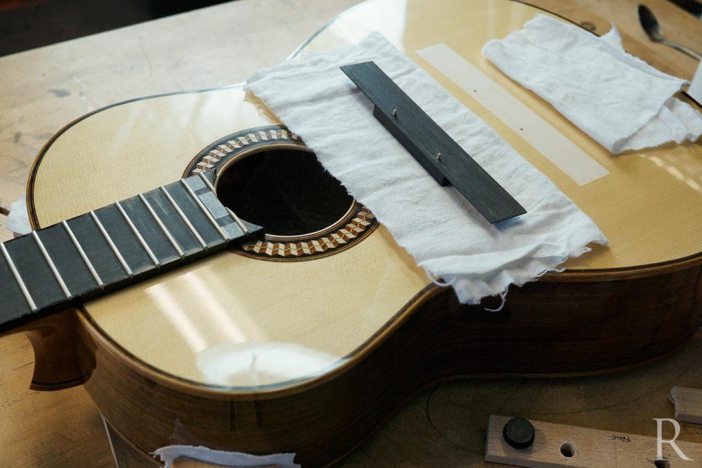 fitting guitar bridge